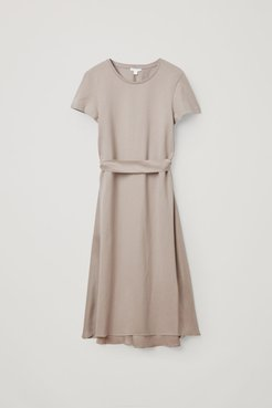 DRAWSTRING MULBERRY SILK DRESS