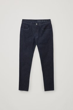RECYCLED COTTON SLIM-LEG JEANS