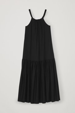 LONG SLEEVELESS COTTON DRESS