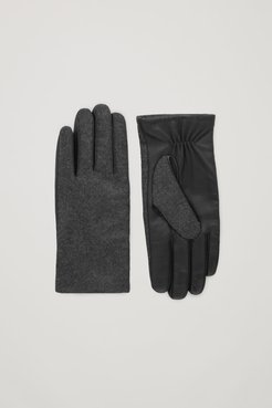 WOOL-LEATHER GLOVES