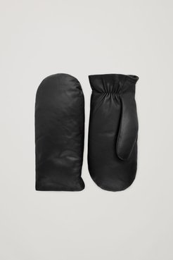 PADDED LEATHER MITTENS