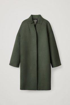 WOOL COAT WITH STAND COLLAR