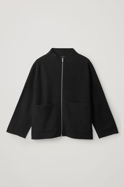 BOILED MERINO ZIP-UP JACKET