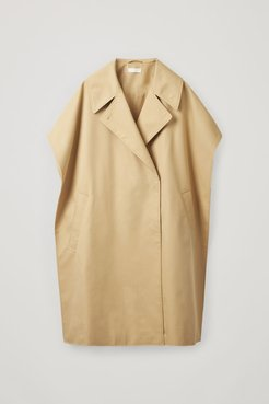 ORGANIC COTTON-MIX TRENCH CAPE