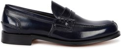 Tunbridge midnight blue leather penny loafers