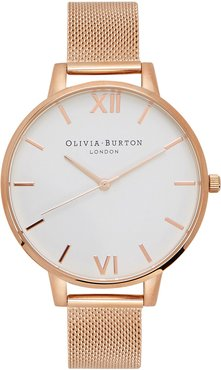 Big Dial rose gold-plated watch
