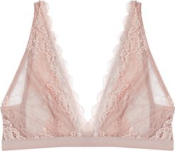 Lace Perfection grey soft-cup bra