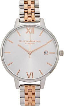 Demi Dial silver-plated watch