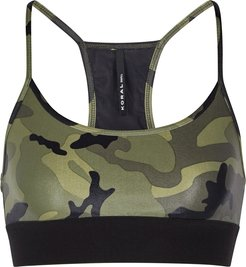 Sweeper camouflage bra top