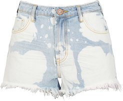 Bonita bleached denim shorts