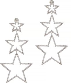 Star crystal-embellished drop earrings