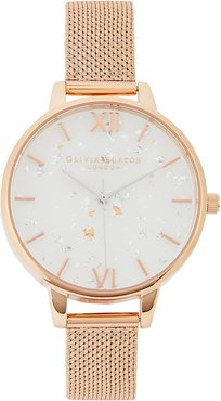 Celestial rose gold-plated watch