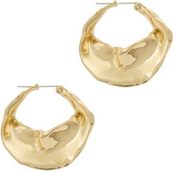 Georgia brass hoop earrings