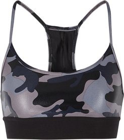 Sweeper camouflage-print bra top