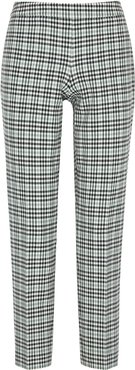 Tiluna checked tapered trousers