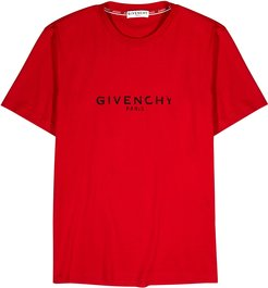 Red logo-print cotton T-shirt