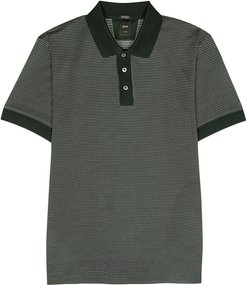 Perry green cotton-blend polo shirt