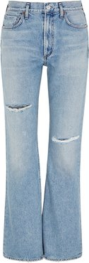 Libby blue distressed bootleg jeans