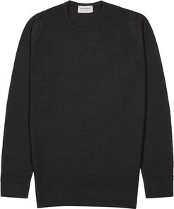 1Singular charcoal wool jumper