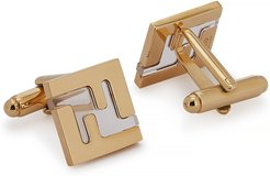 FF gold-tone cufflinks