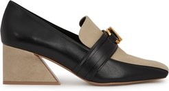 Rosabel 65 leather and suede loafers