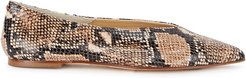 Moa snake-print leather flats