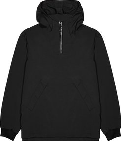 Black hooded logo shell jacket