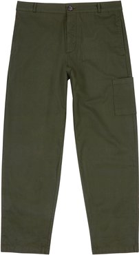 Judo forest green cotton cargo trousers