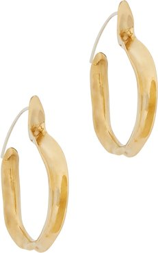 Kiki brass hoop earrings