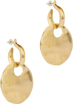 Canary brass hoop earrings