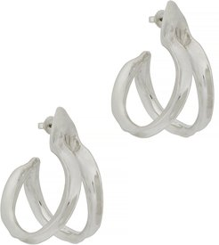 Double Kiki sterling silver hoop earrings
