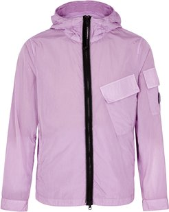 Lilac hooded shell jacket