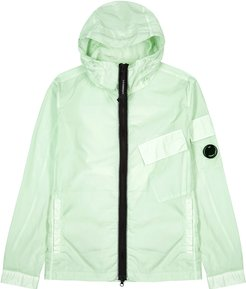 Mint hooded shell jacket