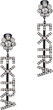 Extra crystal-embellished clip-on earrings
