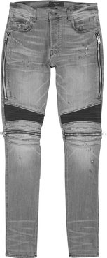 MX2 grey distressed skinny jeans