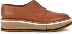 Berlin striped leather flatform Derby shoes