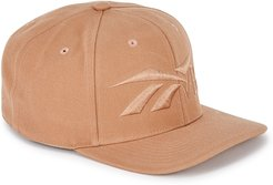 Taupe logo-embroidered twill cap