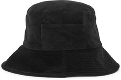 Wave black terry bucket hat