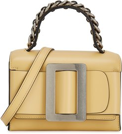 Fred yellow leather cross-body bag