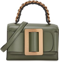 Fred olive leather cross-body bag