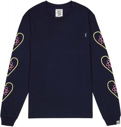 Heart And Mind navy cotton top