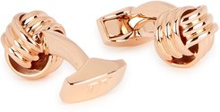 Rose gold-tone knotted cufflinks