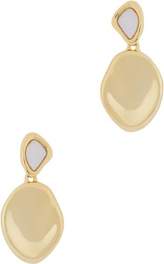 Catalina 14kt gold-dipped drop earrings