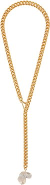 Faux pearl-embellished gold-tone necklace