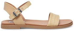 Dina Flat Sandals (Natural Raffia) Women's Sandals