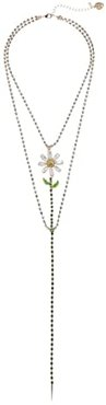 Flower Y-Necklace (Green) Necklace