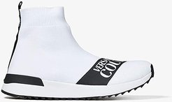 Sock Logo Trainer (White) Women's Shoes