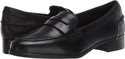 Hamble Loafer (Black Leather) Women's Shoes