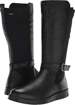 Bella GORE-TEX(r) Tall Boot (Black Cow Leather/Stretch) Women's  Boots