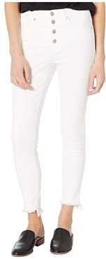 10 High-Rise Skinny Jeans in Pure White (Pure White) Women's Shorts